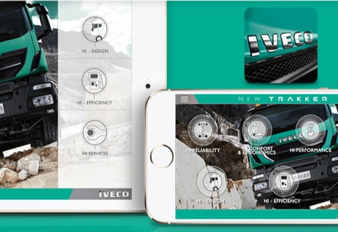 Nieuw: voor alle mobiele apparaten, de IVECO New Trakker app.