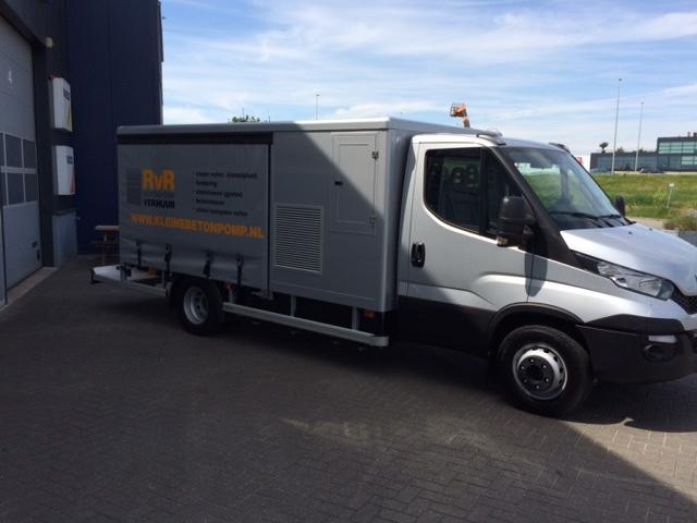 Nieuwe, bijzonder bedrijfswagen voor RvR Betonpomp Verhuur